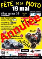 FETE DE LA MOTO ANNULÉE A VILLE EN VERMOIS LE 19 MAI